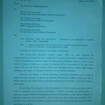 National Strike on 02.09.2015-Letter on Observenance of Conduct rules- Reg