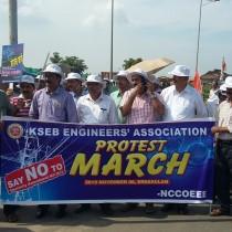 Demonstration at Ernakulam on 6-11-2015